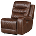 Homelegance Furniture Putnam Power Right Side Reclining Chair with USB Port in Brown 9405BR-RRPW image