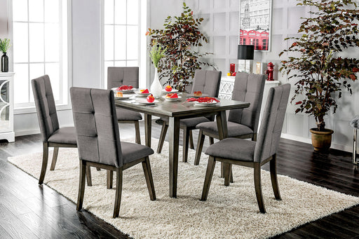 ABELONE Gray, Light Gray 7 Pc. Dining Table Set image