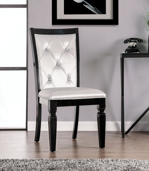 Alena Black/Silver Side Chair (2/CTN) image