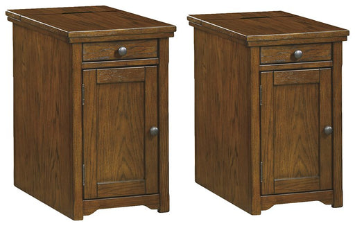 Laflorn Dark Brown Signature Design 2-Piece End Table Set image