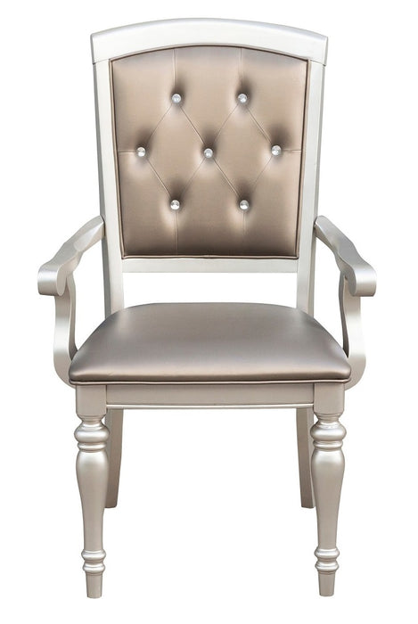 Homelegance Orsina Arm Chair in Silver (Set of 2) image