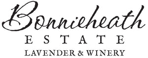 Bonnieheath Estate logo. Black script writing.