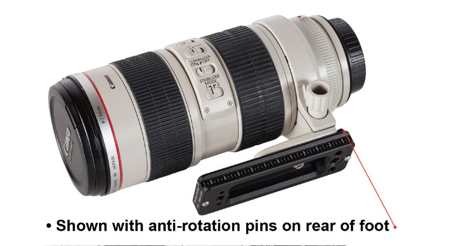 Lens plate with anti-rotation pins