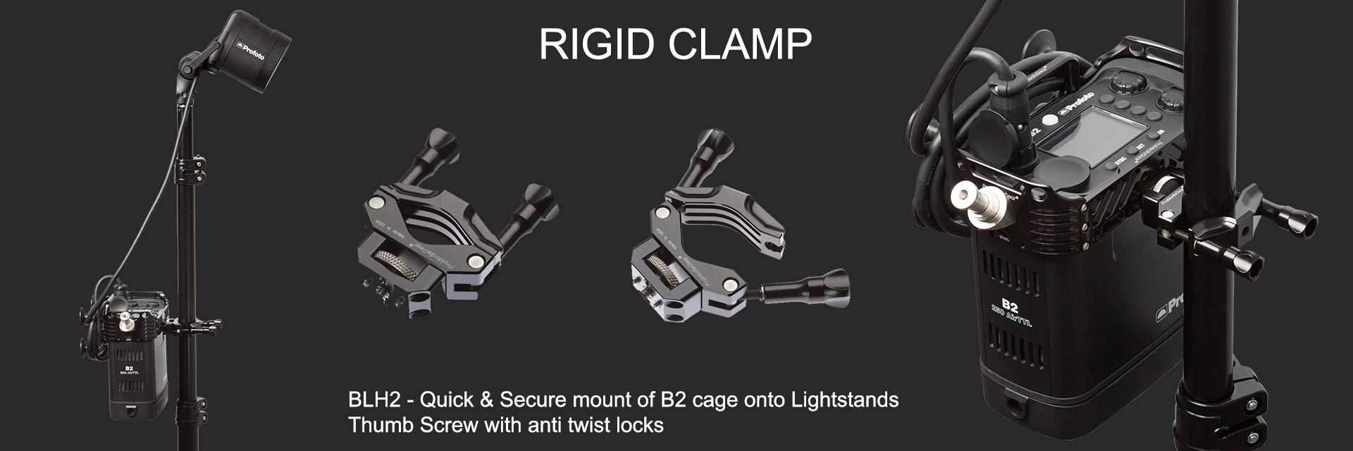 Light Stand Clamp with 1/4-20 thread