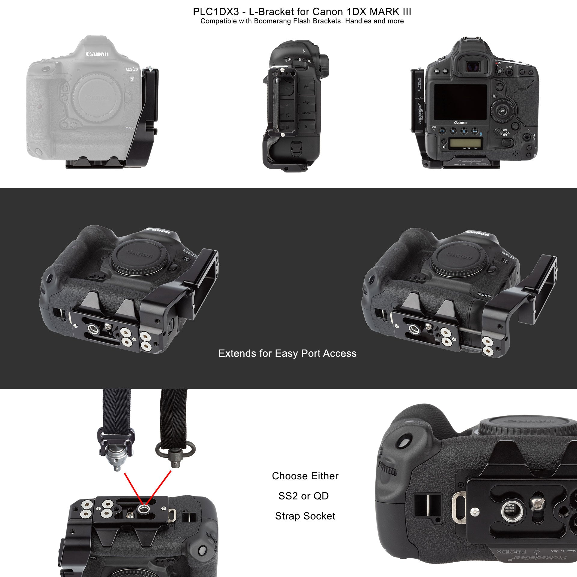 L-Bracket for Canon 1Dx Mark III