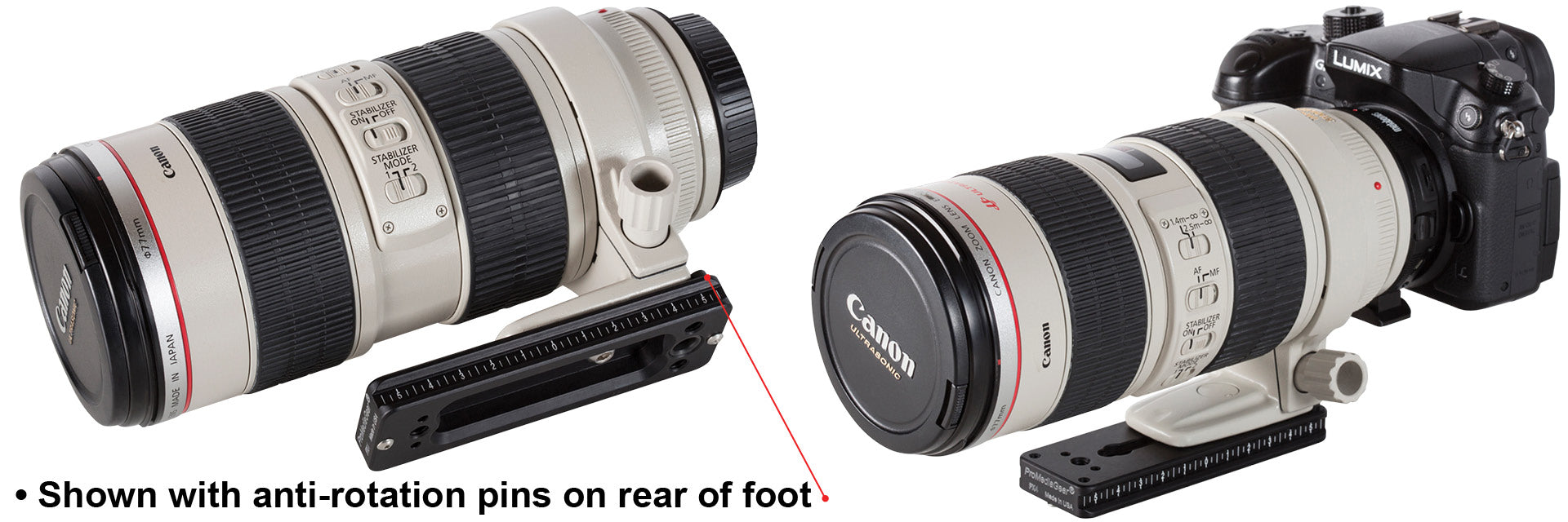 PX4 attached to Canon 70-200