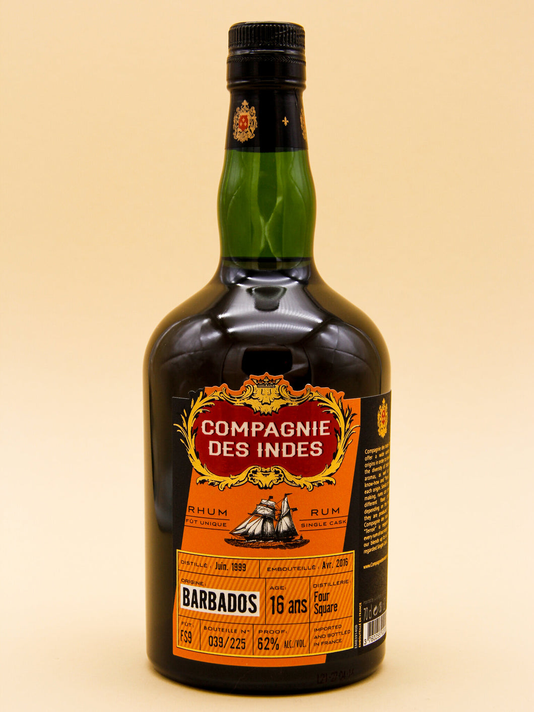 Compagnie Des Indes,16 Years Foursquare, Barbados Rum, FS9 (62%, 70cl)