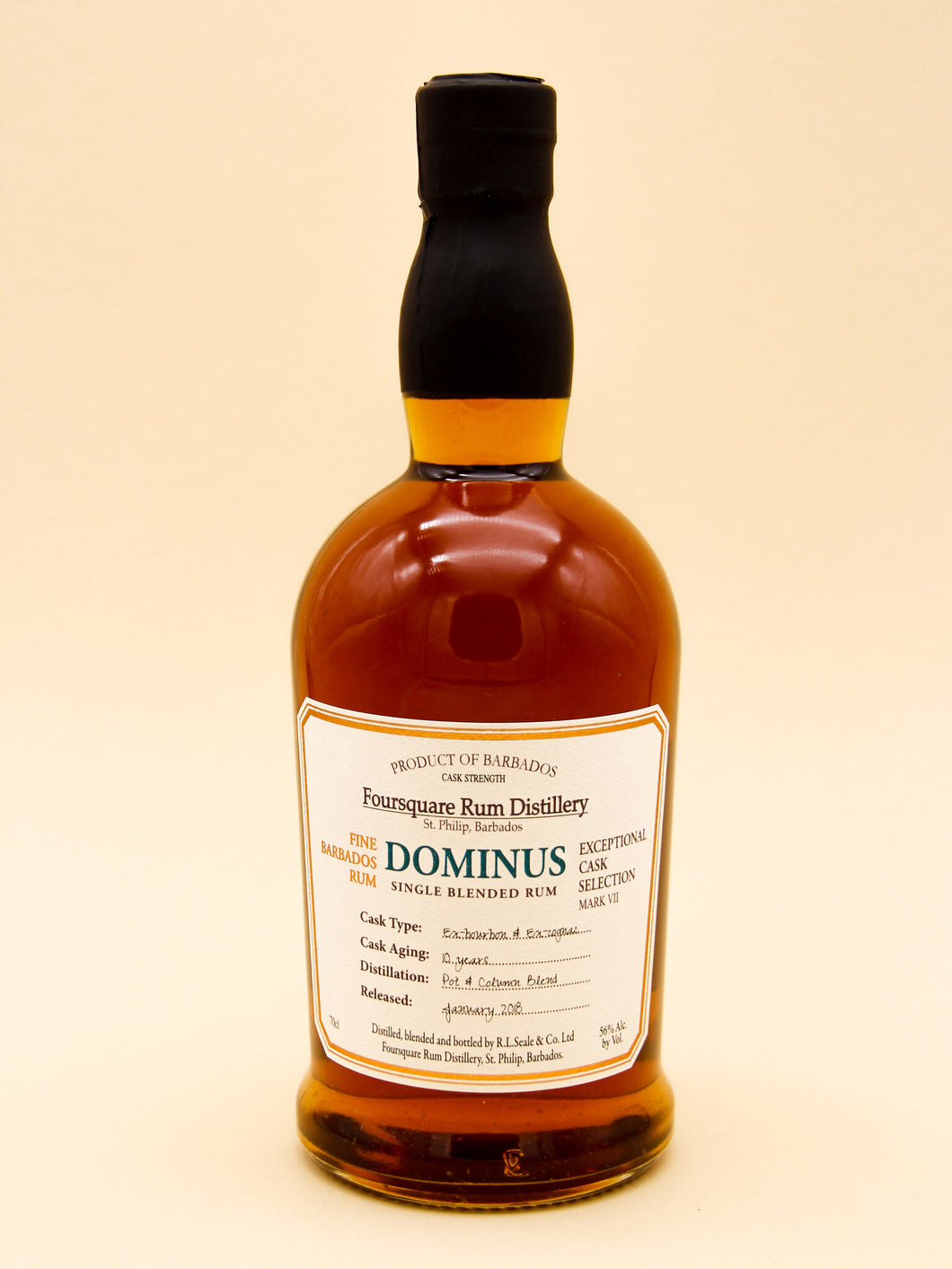 Foursquare Exceptional Cask Selection: Dominus, Single Blended Rum, 10 Years, Barbados (56%, 70cl)