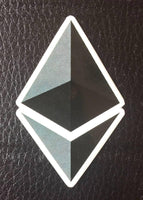 High quality Ethereum cryptocurrency sticker (5 Pack)