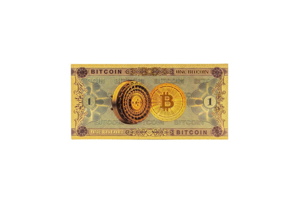 Bitcoin BTC 24K Gold-Foil Bank Note Bill