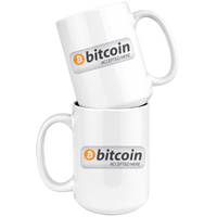 Bitcoin Accepted Here Coffee Mug