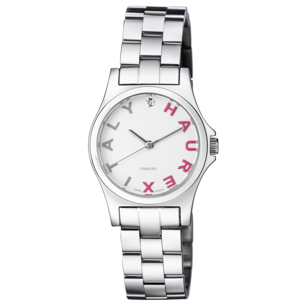 Haurex Italy City Women's White Dial White Strap Watch