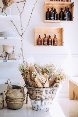 Dried flowers and eco friendly homewares