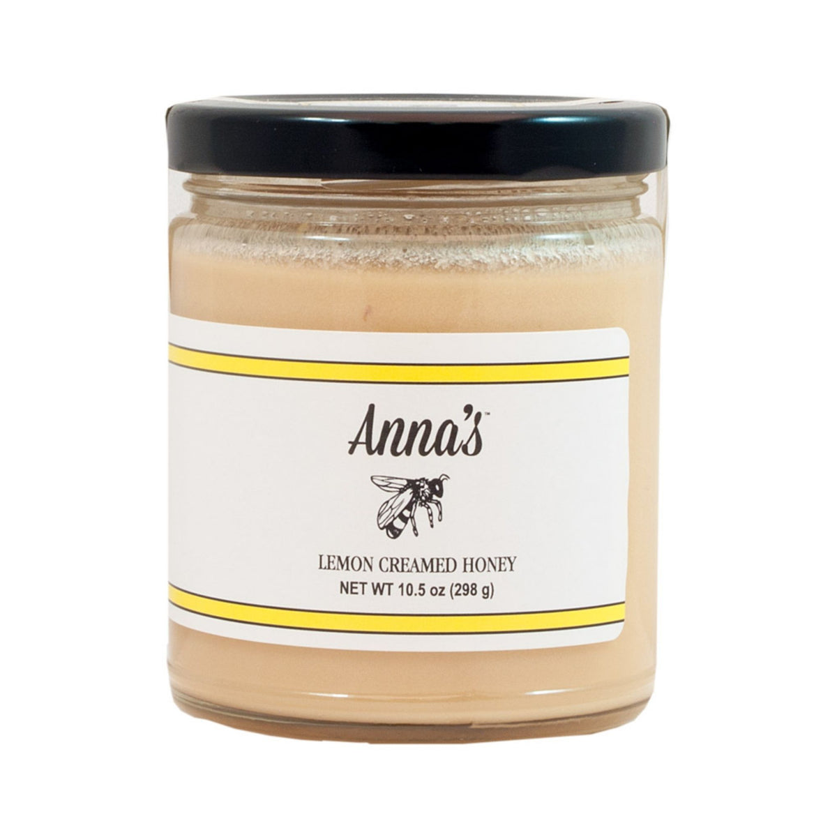 Anna's Lemon Creamed Honey in an Elegant 10.5-Ounce Glass Jar