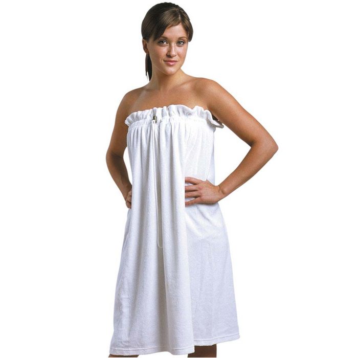901B - Terrycloth Body Wrap with Drawstring