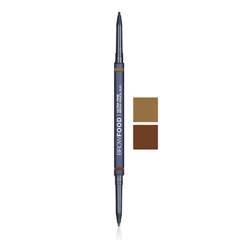 BrowFood Ultra Fine Brow Pencil Duo, BRUNETTE