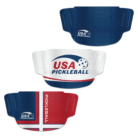 USA Pickleball 3-Pack Face Masks