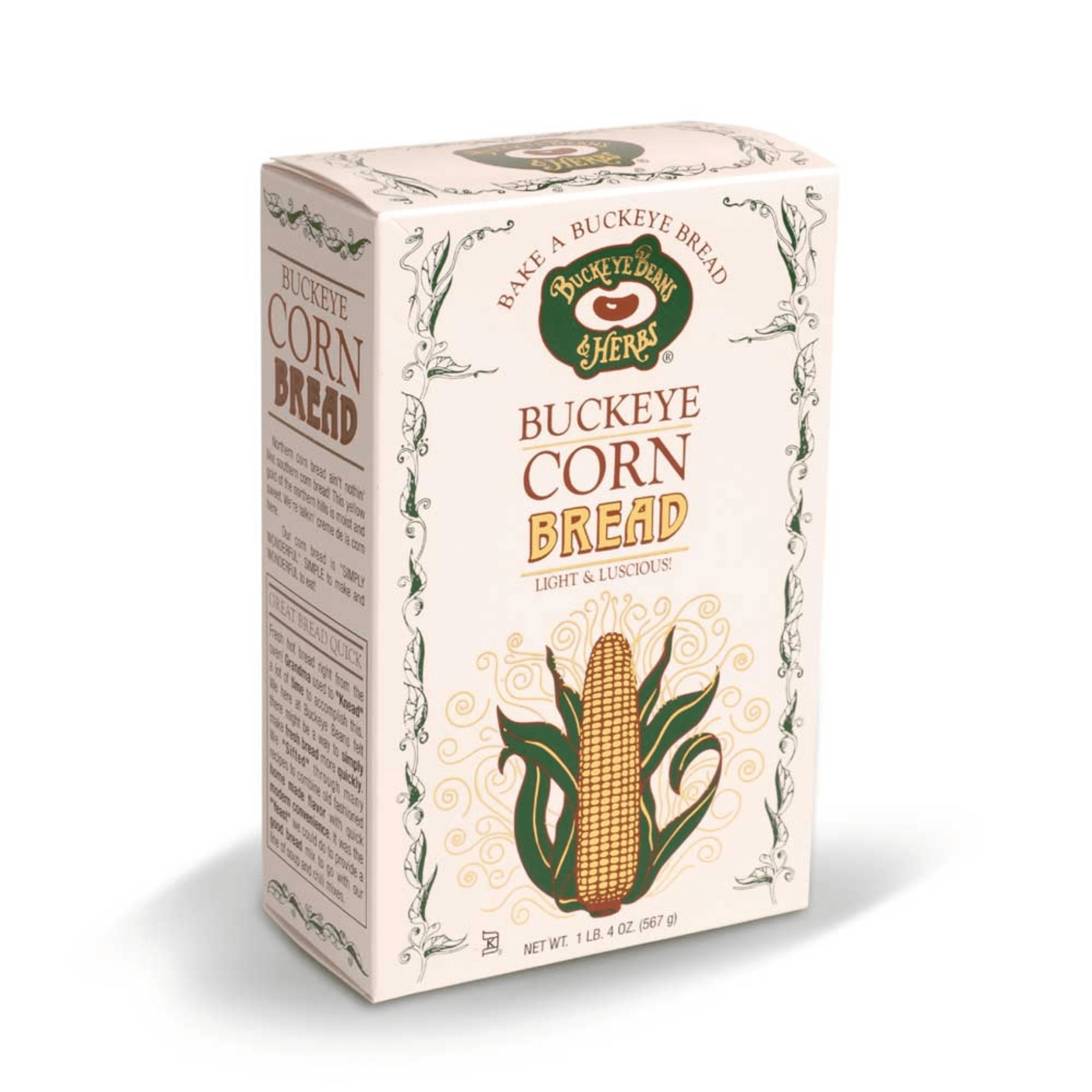 Buckeye Beans and Herbs Light and Luscious Cornbread Mix in a 20-Ounce Box