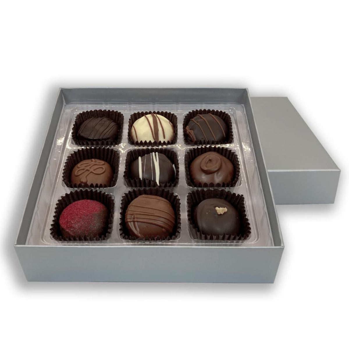 Dilettante Chocolates Individually Crafted Chocolate Truffle Gift Box Featuring Nine Different Truffle Flavors