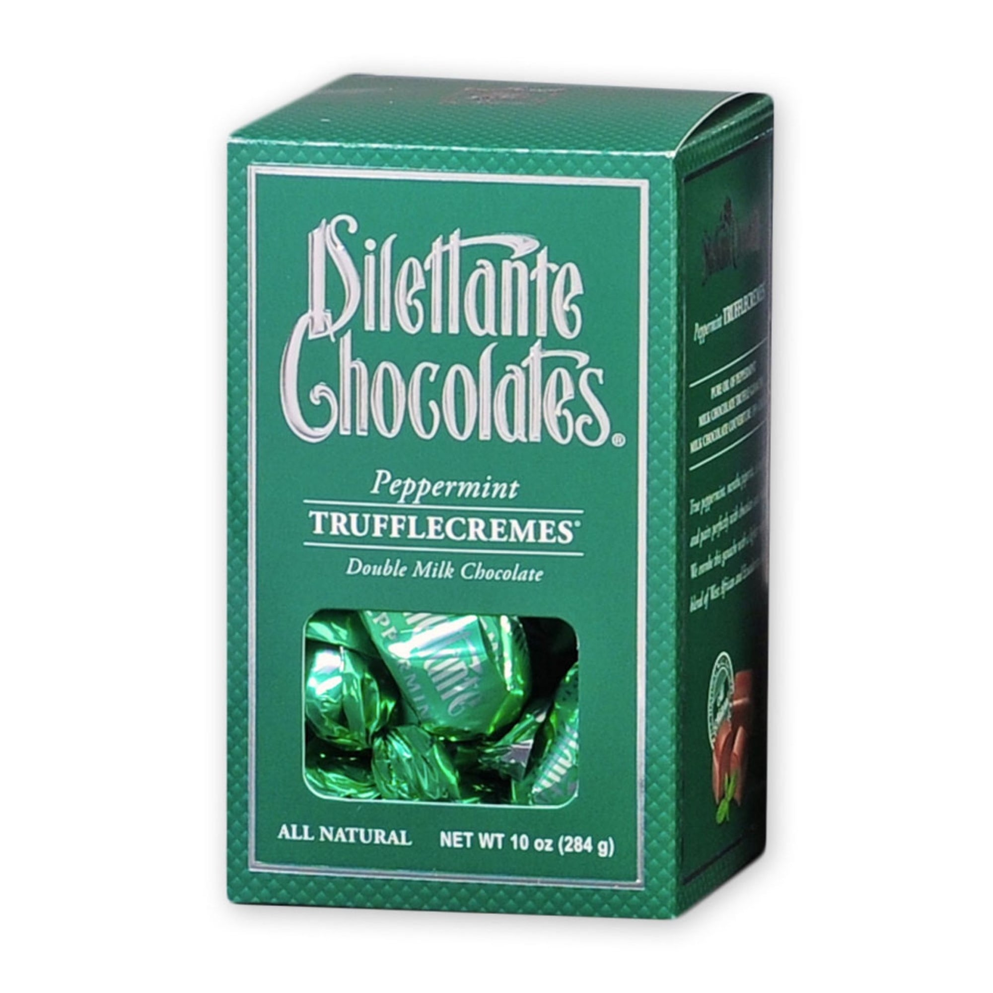 Dilettante Chocolates Peppermint TruffleCremes Coated in Double Milk Chocolate 10-Ounce Gift Box