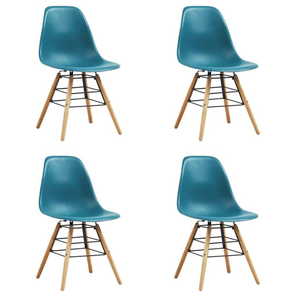 Dining Chairs 4 pcs Turquoise Plastic - Dining Chairs - Dot On Top