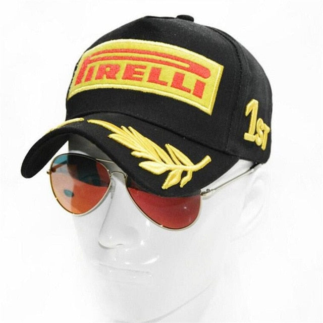 Wholesale Snapback Racing Cap Baseball Cap Black F1 Style Hats For Men Car Motorcycle Racing Casquette Outdoor Sports DAD Hat