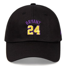 Load image into Gallery viewer, Kobe Bryant 24th Dad Hat Black Mamba 100% Cotton Embroidered Baseball Cap Snapback Unisex Basketball Sports Outdoor Caps