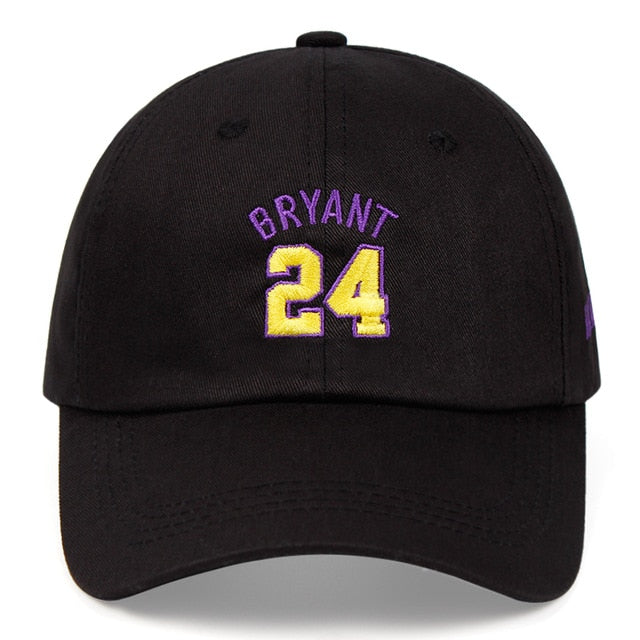 Kobe Bryant 24th Dad Hat Black Mamba 100% Cotton Embroidered Baseball Cap Snapback Unisex Basketball Sports Outdoor Caps