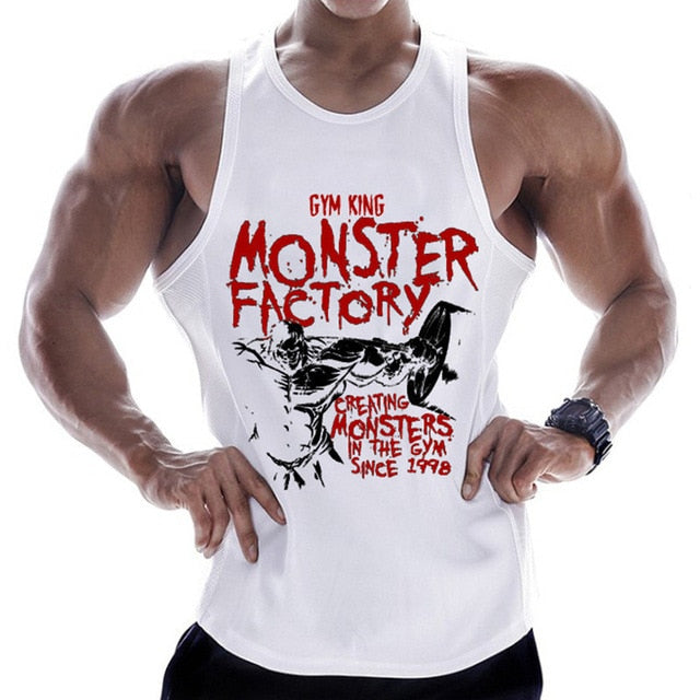 Men's Sleeveless Bodybuilding Tank Top. Perfect for the Gym and Fitness.