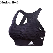 Load image into Gallery viewer, Women Sports Bra Tops High Impact for Fitness Yoga Running Pad Cropped Top SportsWear Tank Yoga Tops Sports Push Up Bra Women