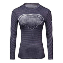 Load image into Gallery viewer, High Quality Woman T shirt Compression Tights Women's 3D Printing Sports T-shirt Dry Quick Gym Fitness jogging Yoga Shirts