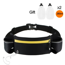 Load image into Gallery viewer, Marathon Dual Pocket Running Bag Trail Running Waist Belt  For Phone Unisex Sports Fanny Pack Fitness Waist Pack Water Bottle