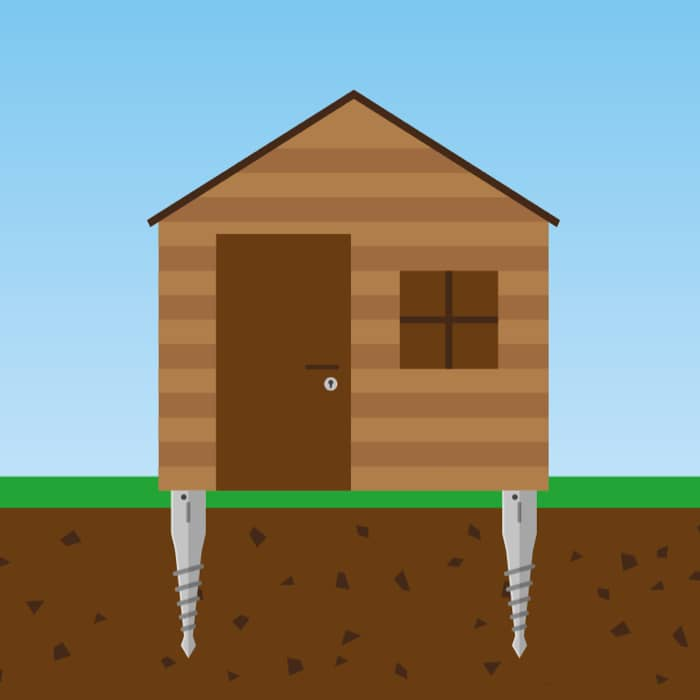shed ground screws foundations