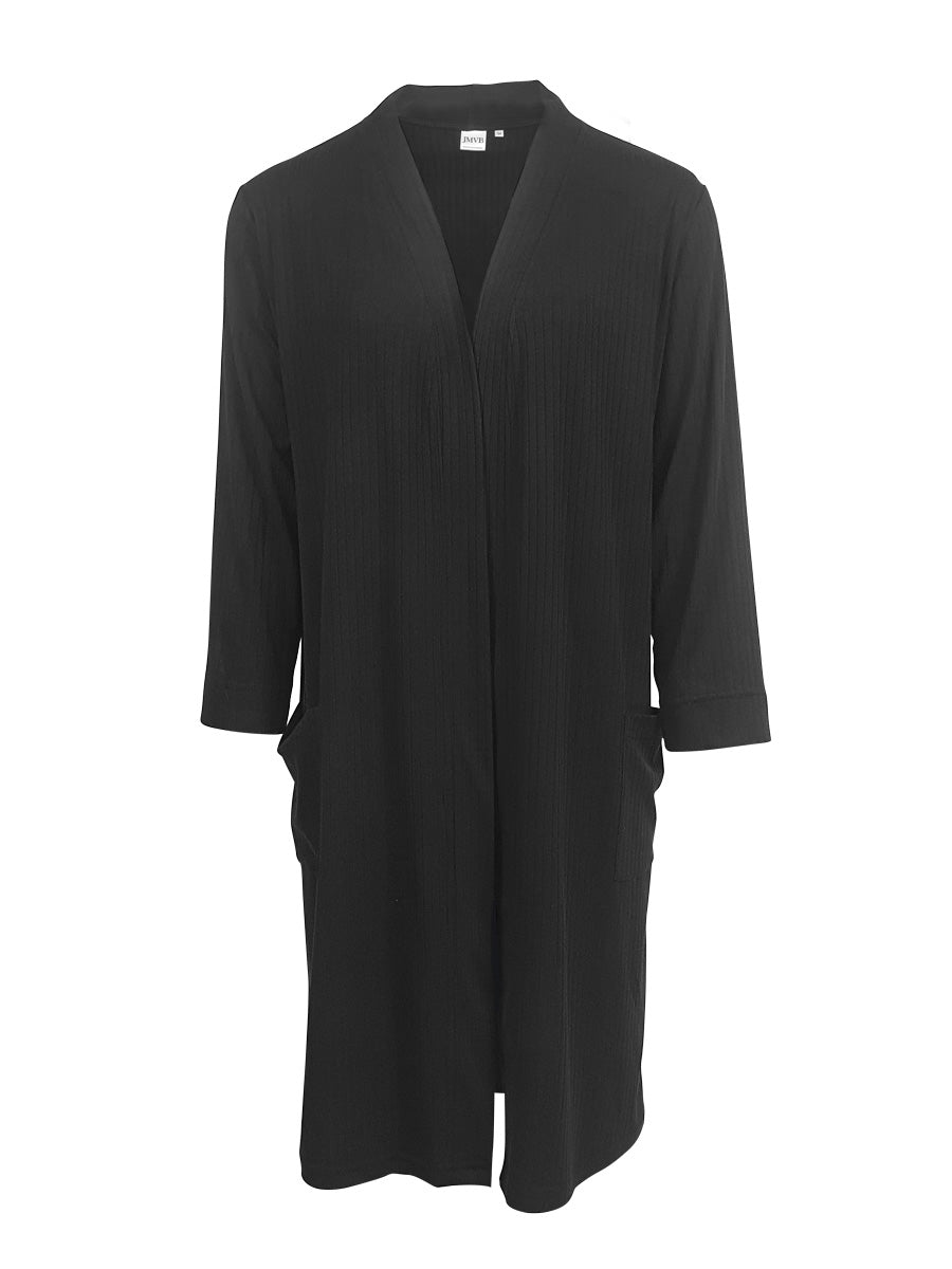 Long Lounge cardigan, Black
