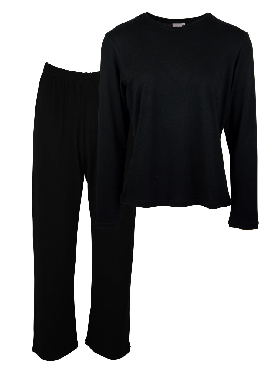 Classic LUXE Loungewear 2 Piece Set, Black