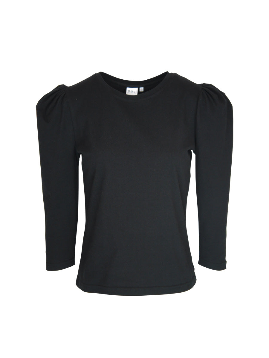 Puffer Sleeve Tee, Black