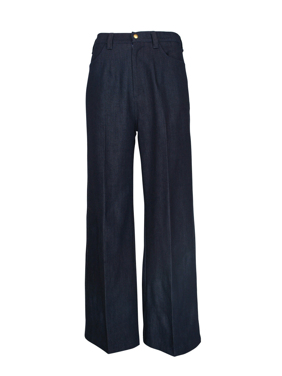 Classic Straight Leg Jeans, Dark Indigo Denim