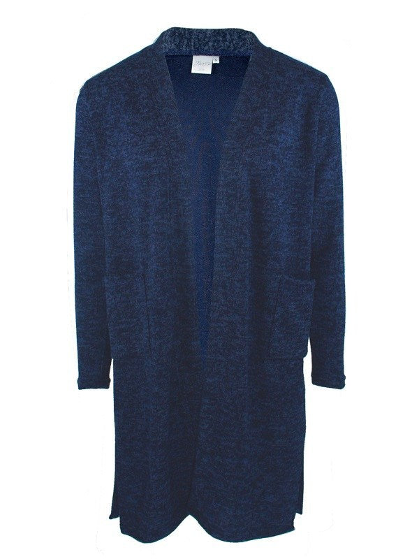 Slim-fit Long Cardigan, Navy Animal