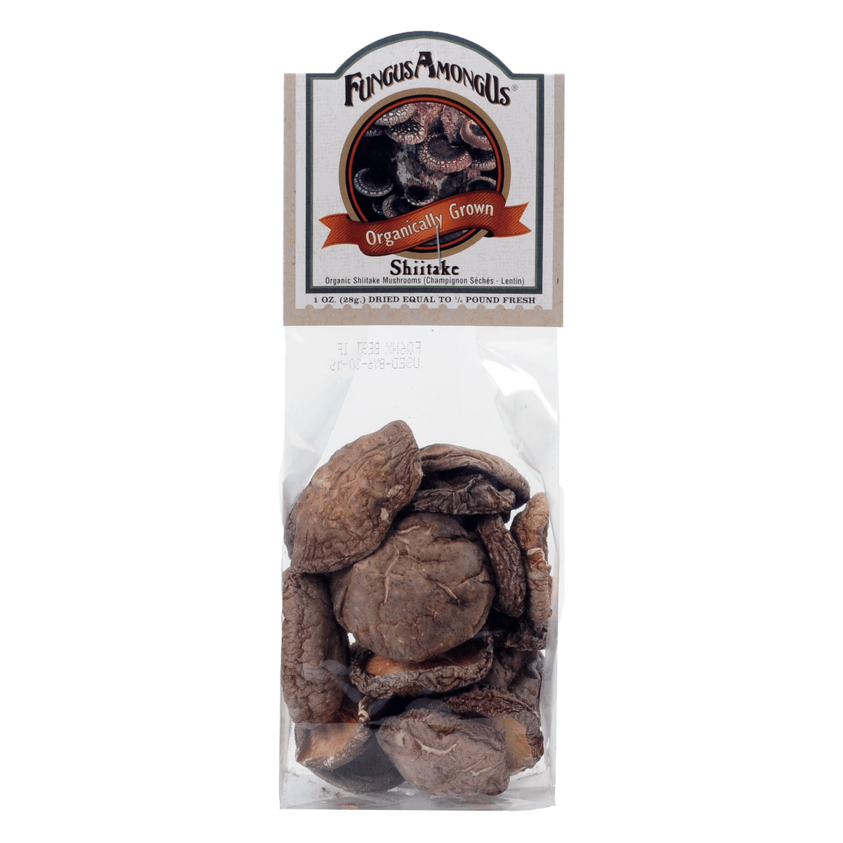 FungusAmongUs Organically Grown Shiitake Mushrooms in a 1-Ounce Bag