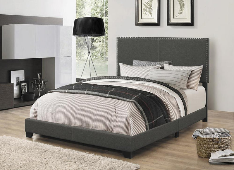 Boyd Upholstered Charcoal Queen Bed image