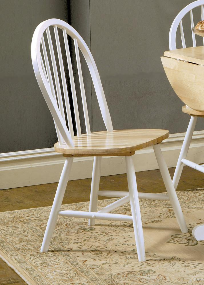 Country Two-Tone Natural Wood Dining Chair image