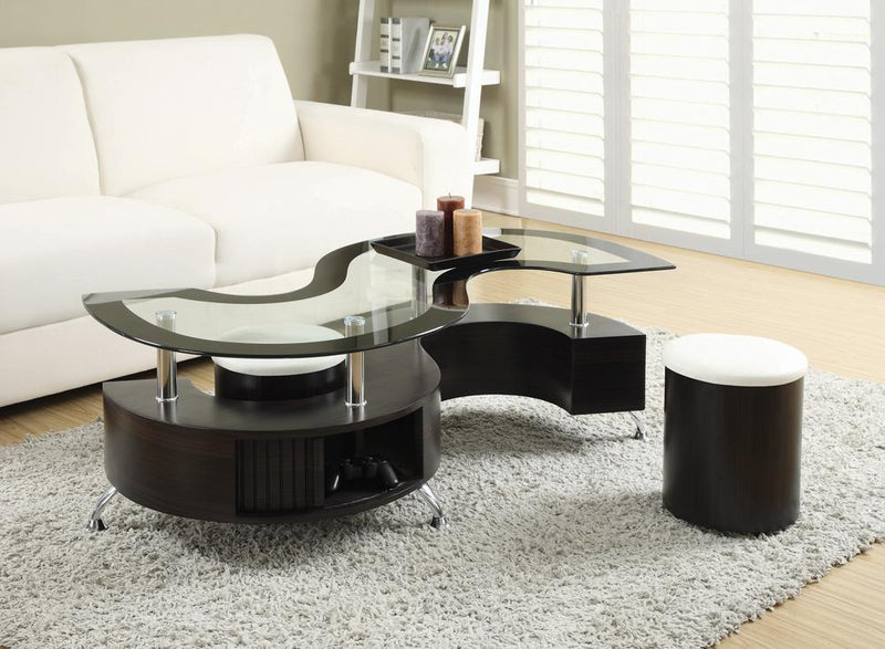 Delange Motion White Coffee Table image
