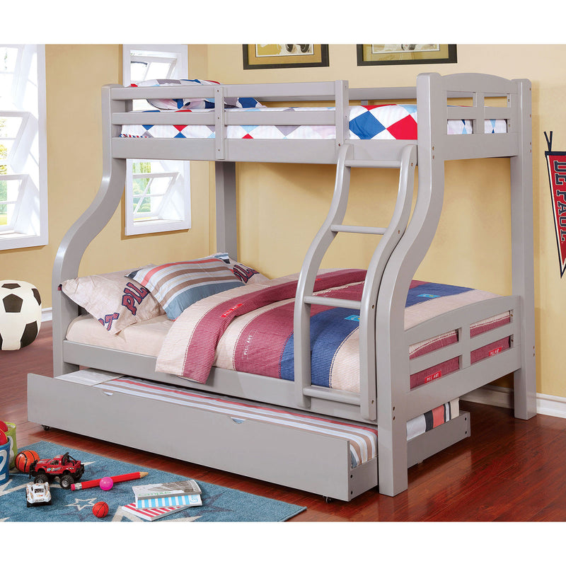 SOLPINE Gray Twin/Full Bunk Bed image