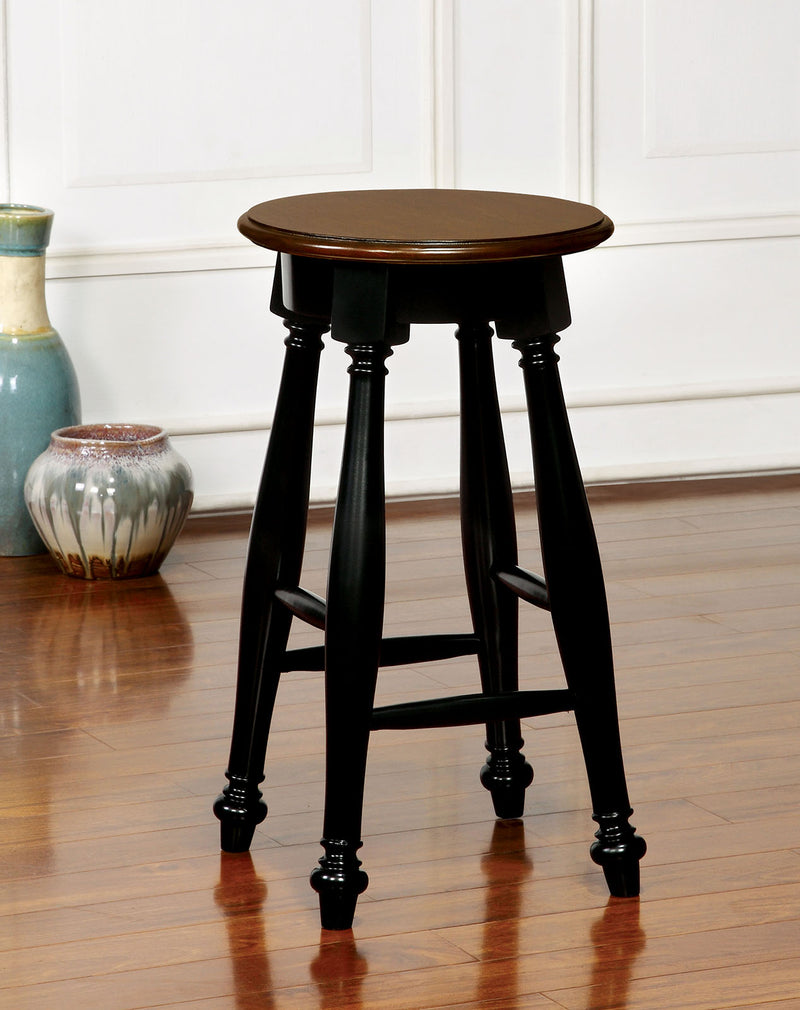 SABRINA Black/Cherry Counter Ht. Stool, Cherry & Black (2/CTN) image