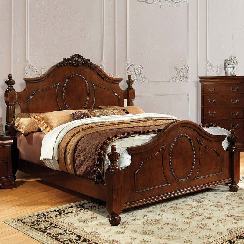 Velda II Brown Cherry E.King Bed image