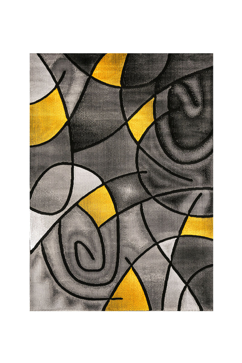 Sivas Charcoal Yellow 5' X 8' Area Rug image