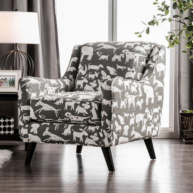 Patricia Ivory/Black Animal Pattern Chair image