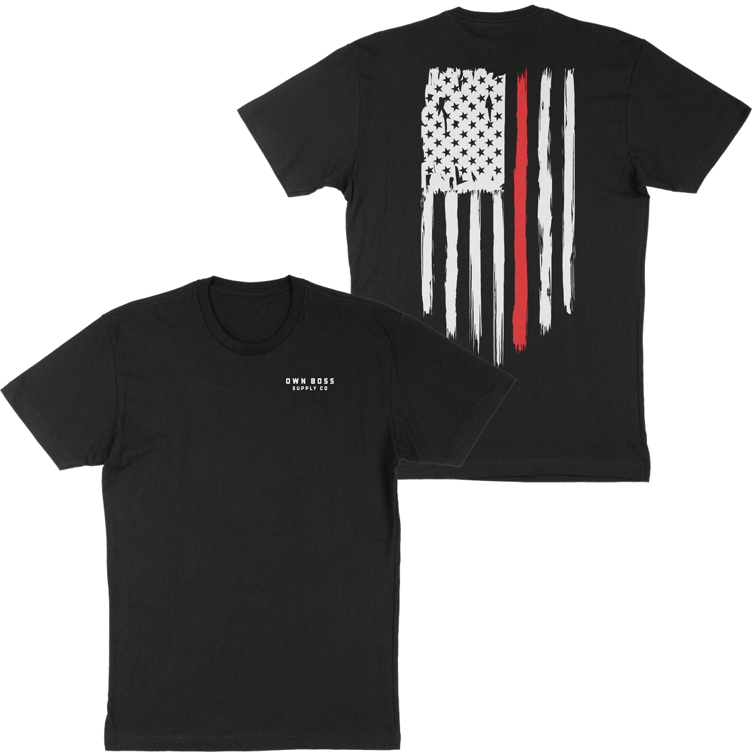 THIN RED LINE TEE - Own Boss Supply Co