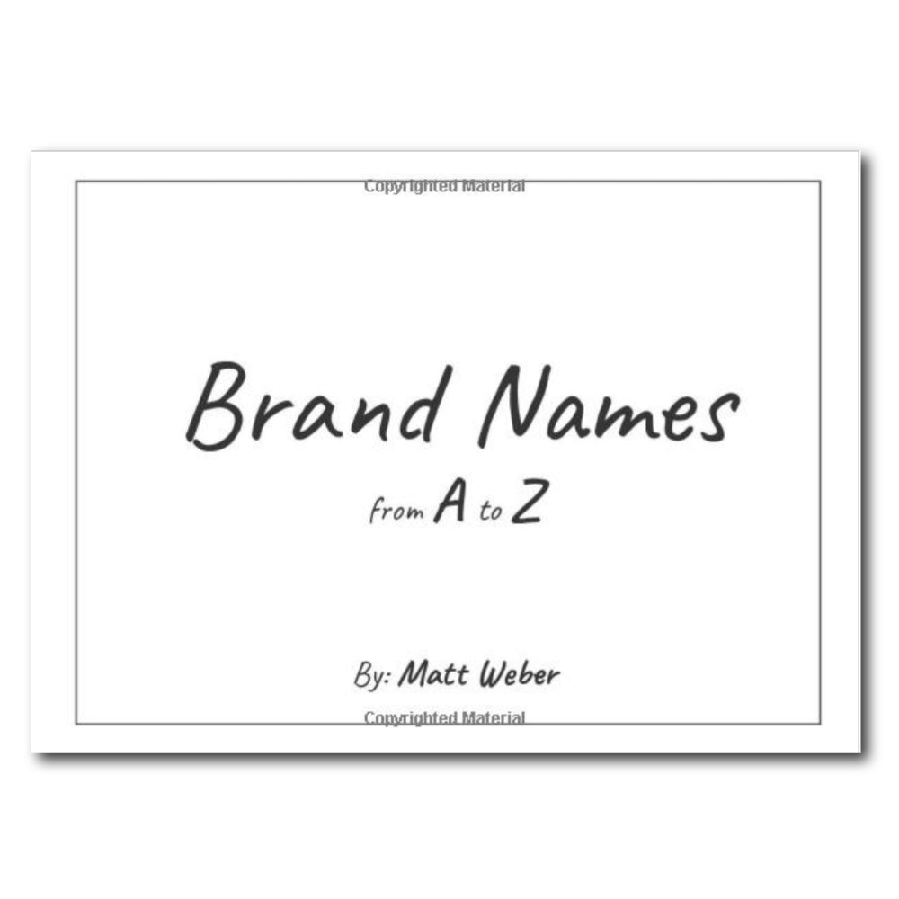 Brand Names from A to Z
