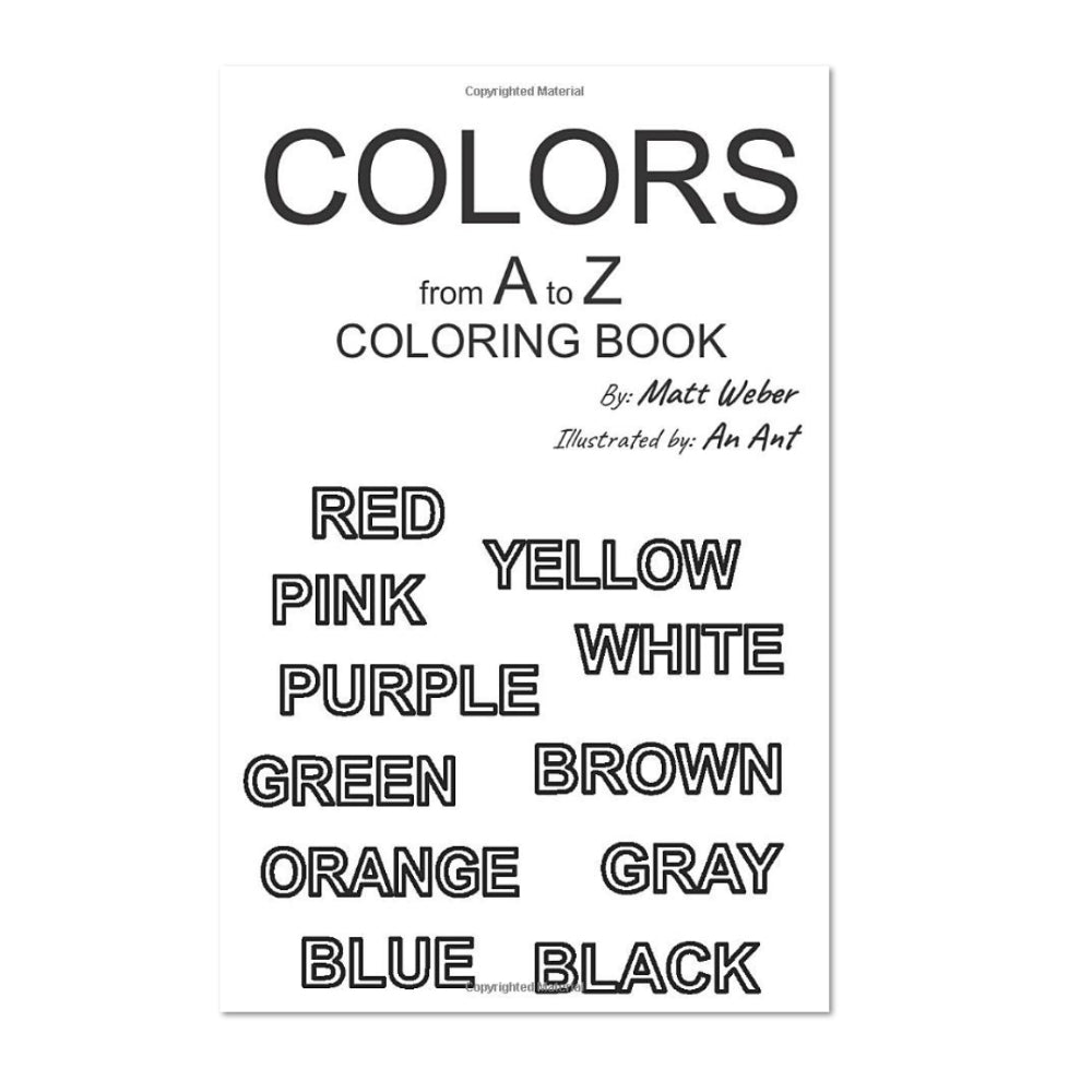 Colors from A to Z: Coloring Book